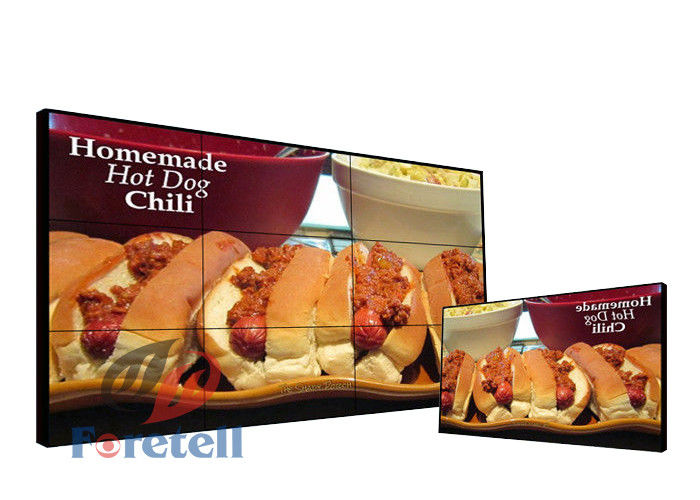 500 Cd / M2 4k Video Wall Display Commercial Lg Lcd Panel Web Based Control
